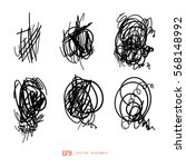 scribble line design art... | Shutterstock .eps vector #568148992