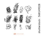 scribble line design art... | Shutterstock .eps vector #568149028