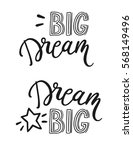 dream big. inspirational quote. ... | Shutterstock .eps vector #568149496