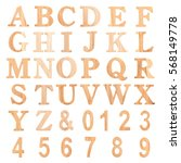 Font Wood Alphabet Letter And...