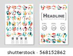 abstract vector layout... | Shutterstock .eps vector #568152862