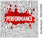 performance word cloud  fitness ... | Shutterstock . vector #568153585