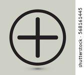 plus icon  positive symbol... | Shutterstock .eps vector #568161445