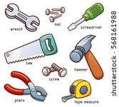 vector illustration of... | Shutterstock .eps vector #568161988