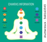 chakras information on white... | Shutterstock .eps vector #568163545