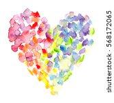 Big Colorful Heart With Rainbo...