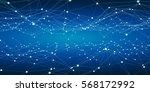 floating white and blue dot...   Shutterstock . vector #568172992