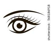 Female Eye Isolated On White