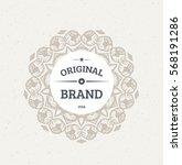 vintage frame for luxury logos  ... | Shutterstock .eps vector #568191286