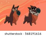 dog emotions character vector | Shutterstock .eps vector #568191616