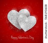 vector happy valentine's day...   Shutterstock .eps vector #568193608