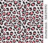 pattern leopard trendy print... | Shutterstock . vector #568194592