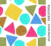 seamless pattern of abstract... | Shutterstock .eps vector #568195906
