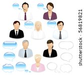8 vector business people icons... | Shutterstock .eps vector #56819821