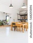 white open floor apartment with ...   Shutterstock . vector #568205896