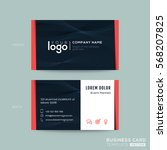 black modern business card...   Shutterstock .eps vector #568207825