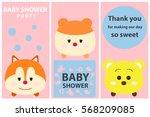 baby shower  greeting card ... | Shutterstock .eps vector #568209085