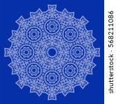 lace round rostitelny detailed... | Shutterstock .eps vector #568211086