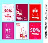 set of posters with the sale of ...   Shutterstock .eps vector #568219612