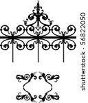 vector design elements for iron ... | Shutterstock .eps vector #56822050