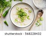 sticky rice porridge with... | Shutterstock . vector #568228432