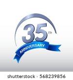 35 years anniversary... | Shutterstock .eps vector #568239856