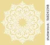 oriental vector round white...   Shutterstock .eps vector #568241548