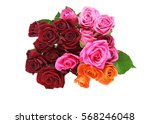 Stock photo bouquet of roses 568246048