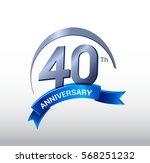 40 years anniversary... | Shutterstock .eps vector #568251232