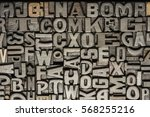 vintage wooden letterpress | Shutterstock . vector #568255216