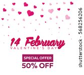 valentines day sale. background ... | Shutterstock .eps vector #568256206