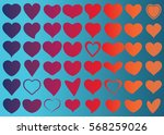 red heart vector icon... | Shutterstock .eps vector #568259026