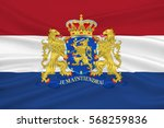 flag of netherlands or kingdom... | Shutterstock . vector #568259836