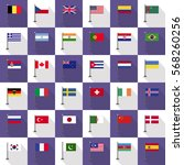 flag country icon vector... | Shutterstock .eps vector #568260256