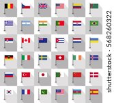 flag country icon vector... | Shutterstock .eps vector #568260322