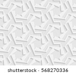 seamless 3d white pattern ... | Shutterstock .eps vector #568270336
