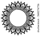 mandalas for coloring book.... | Shutterstock .eps vector #568276756