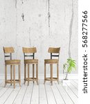 modern bright interior . 3d... | Shutterstock . vector #568277566