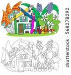 Pencils House. Vector Color...