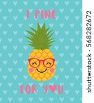 i pine for you typography with... | Shutterstock .eps vector #568282672