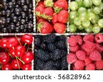 Different Colourful Berries In...