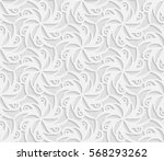 seamless 3d white pattern ... | Shutterstock .eps vector #568293262