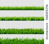 grass border set  vector... | Shutterstock .eps vector #568305256