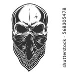 illustration of skull in... | Shutterstock .eps vector #568305478