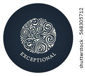 round calligraphic royal emblem.... | Shutterstock .eps vector #568305712