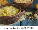 soup with pea | Shutterstock . vector #568309705
