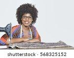 portrait of an african american ... | Shutterstock . vector #568325152