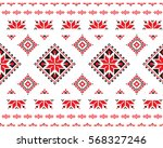 repeating cross stitch.... | Shutterstock .eps vector #568327246