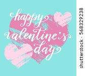 hand paint vector heart... | Shutterstock .eps vector #568329238