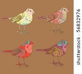 vector bird silhouette | Shutterstock .eps vector #56832976